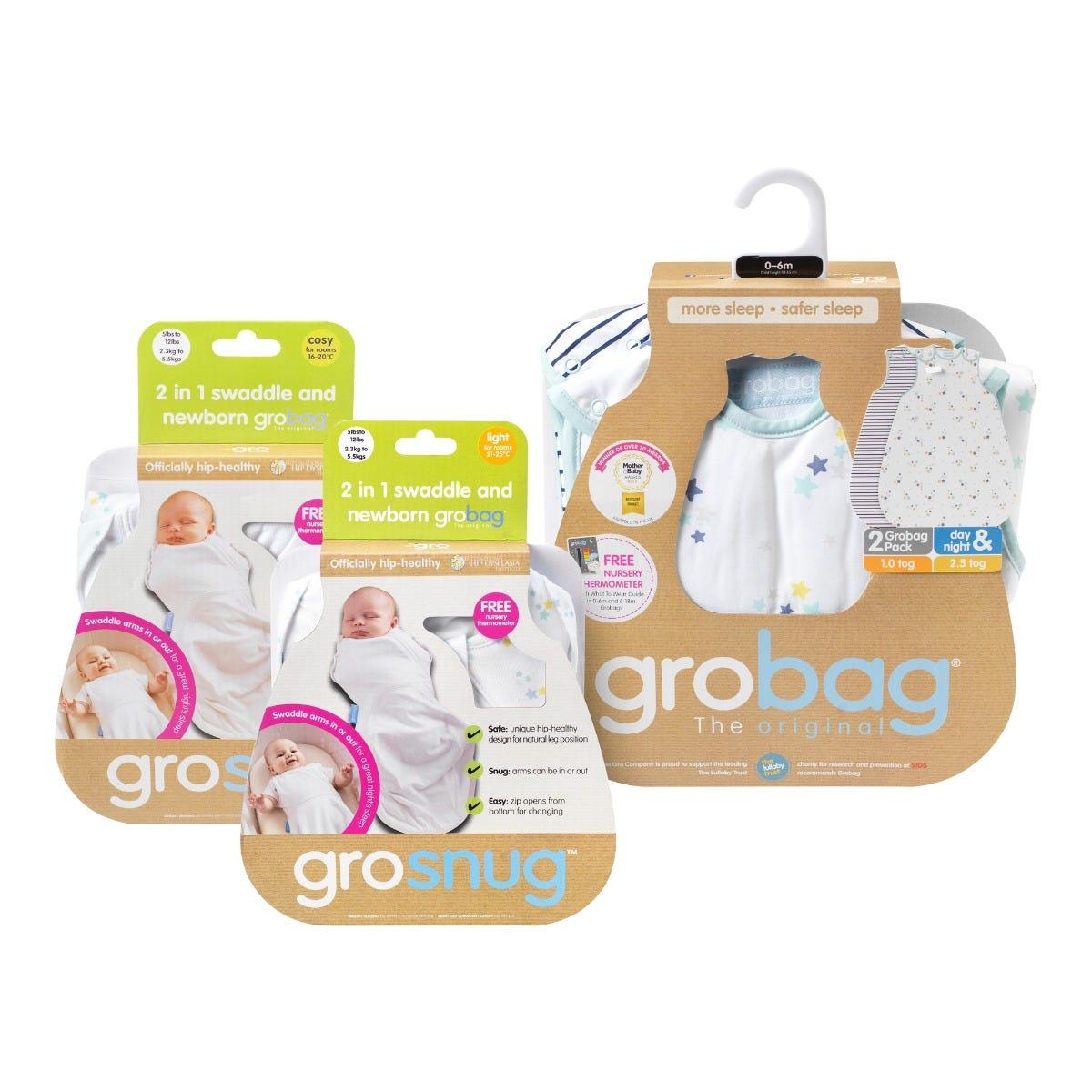 newborn-grosnug-and-0-6-month-grobag-star-print